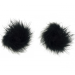feather nipple pasties black