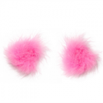 feather nipple pasties pink