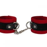 Velveteen Wrist Cuffs Red