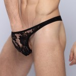Men's Lace G-string Black