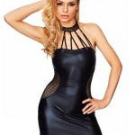 Exciting Leather Look Dress