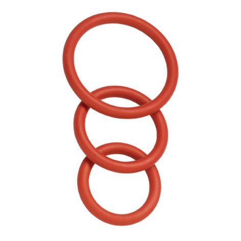 3 Pack Nitrile Cock Ring Set