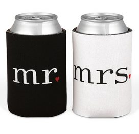 Mr & Mrs Stubby Holder Set