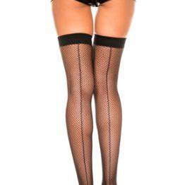 Backseam Fishnet Thigh High Stockings
