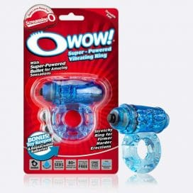 o wow blue vibrating cock ring
