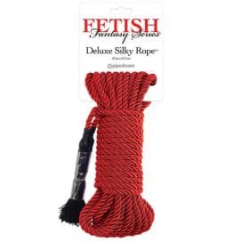 red deluxe silky rope by fetish fantasy