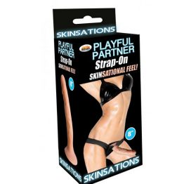 Playful Partner Strap On 8 Inch