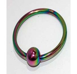 Rainbow Penis Head Ring with Ball