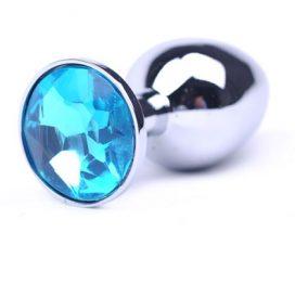 beautiful small blue jewel butt plug