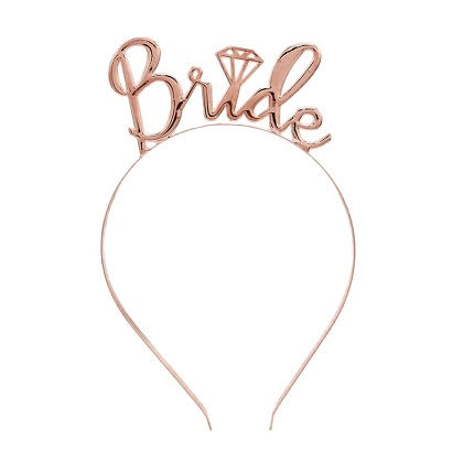 rose gold bride headband