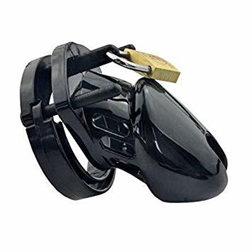 black silicone male chastity device