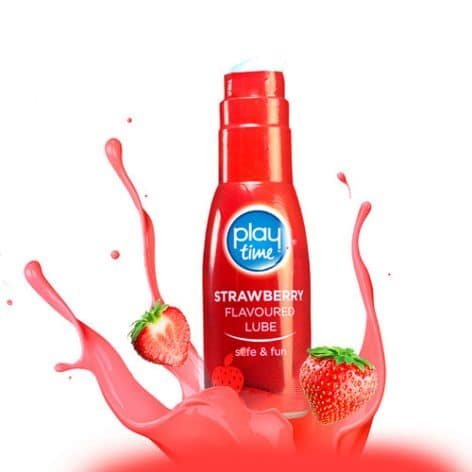 Playtime strawberry lubricant