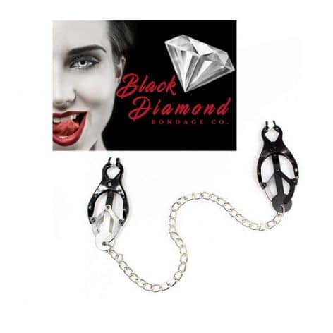 butterfly nipple clamps by black diamond bondage co