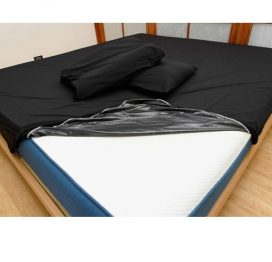 black waterproof sheet by eroticgel