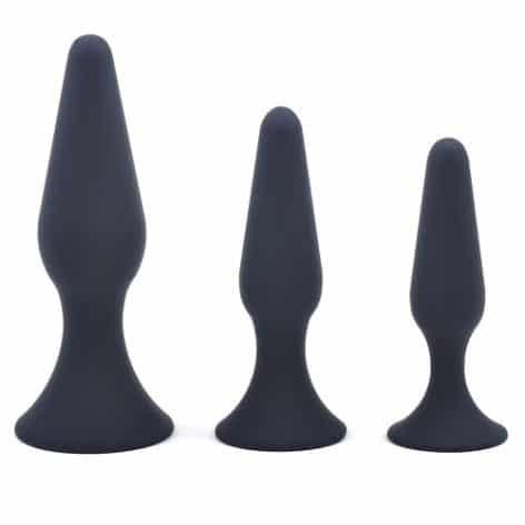 three size classic silicone anal plug