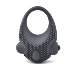 black vibrating couples stimulating ring