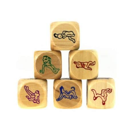 wooden sex position dice