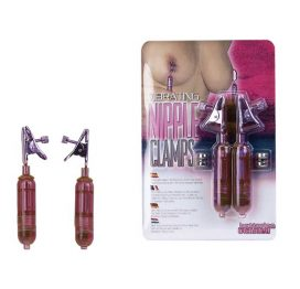 pink vibrating nipple clamps