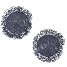 black lace nipple cover
