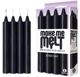 make me melt jet black drip candle