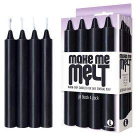 make me melt jet black drip candle