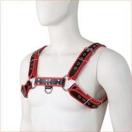 mens bondage chest harness