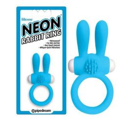 blue neon vibrating rabbit ring