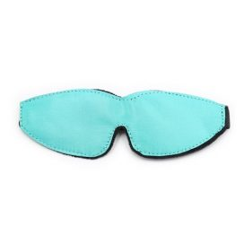 teal satin blindfold