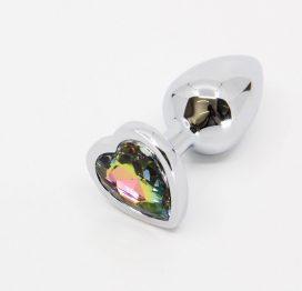 medium rainbow jewelled butt plug