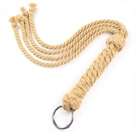 hand-knitted rope flogger