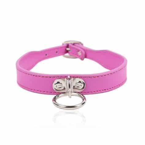 pink slim o ring collar